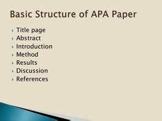 Apa style writing essay